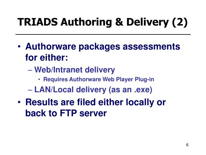 TRIADS Authoring & Delivery (2)