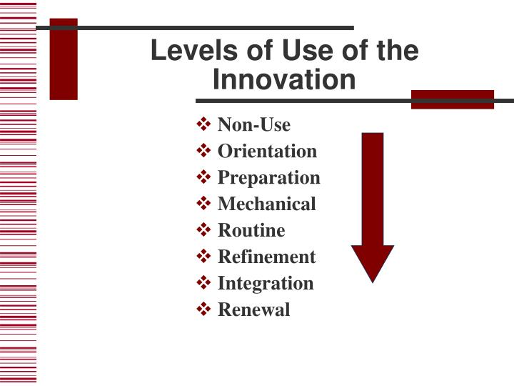 Levels of Use of the Innovation