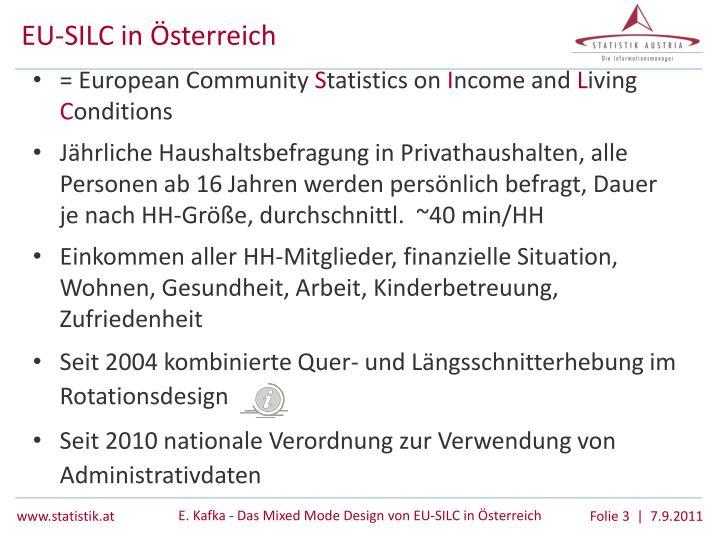 EU-SILC in Österreich