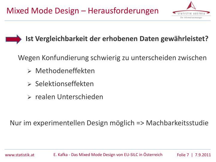 Mixed Mode Design – Herausforderungen