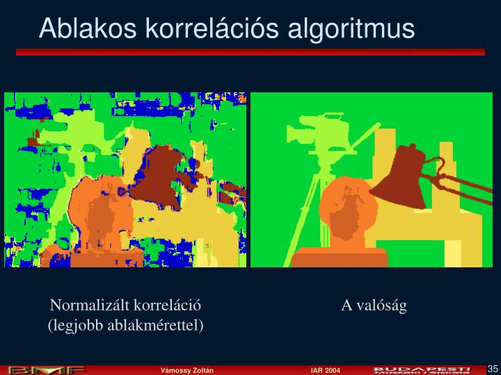 Ablakos korrelációs algoritmus