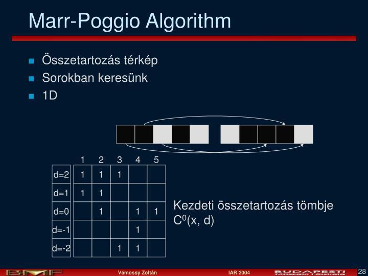 Marr-Poggio Algorithm