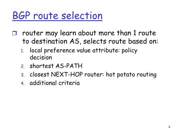 BGP route selection