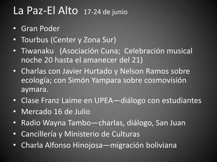 La Paz-El Alto