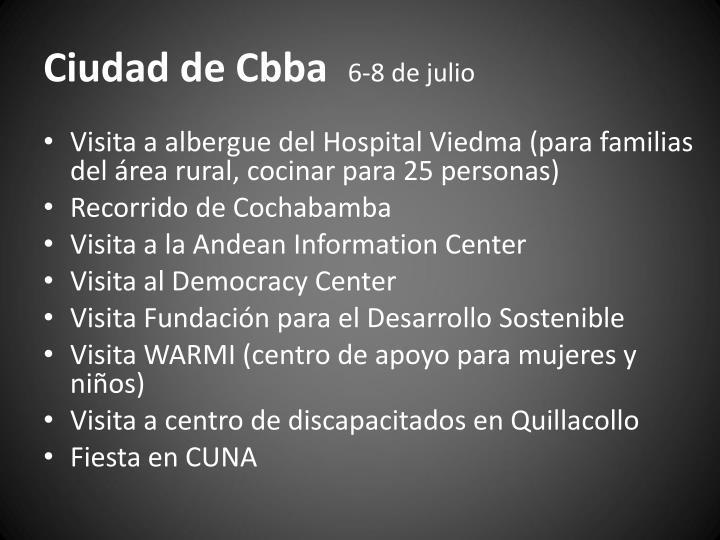 Ciudad de Cbba