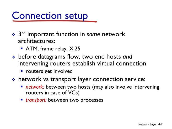 Connection setup