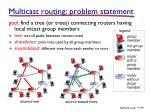 multicast routing problem statement