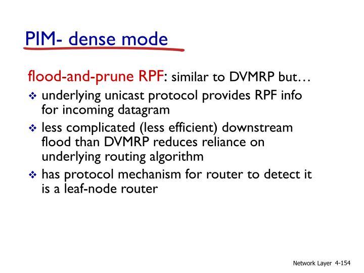 PIM- dense mode