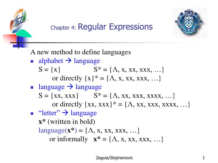 Chapter 4 regular expressions