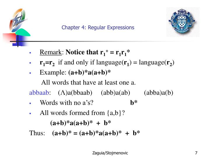 Chapter 4: Regular Expressions