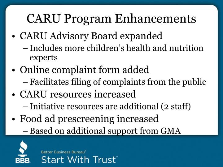 CARU Program Enhancements
