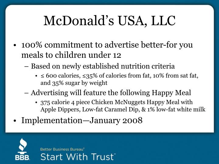 McDonald's USA, LLC