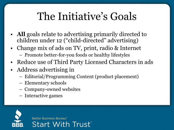 The Initiative's Goals