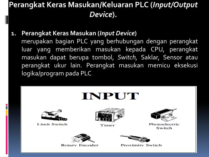 Perangkat Keras Masukan/Keluaran PLC (
