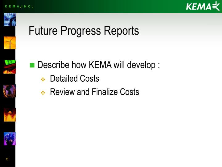Future Progress Reports