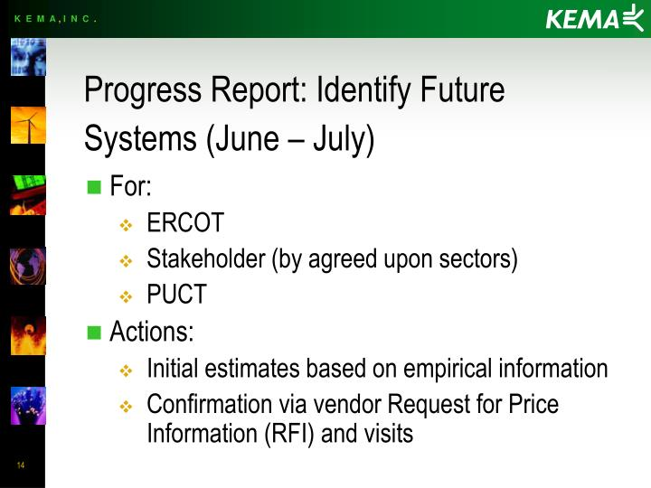 Progress Report: Identify Future Systems (June – July)