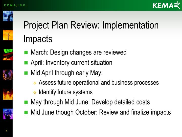 Project plan review implementation impacts