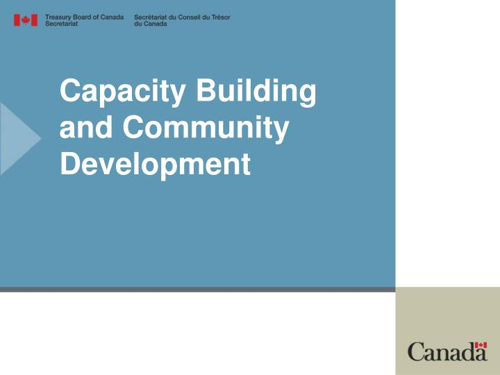 Capacity Building and Community Development