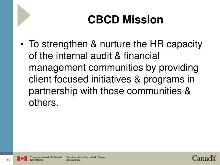 CBCD Mission