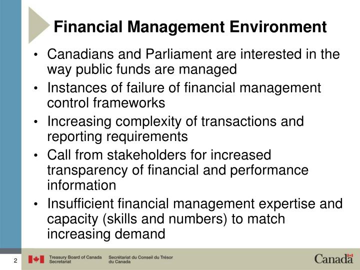 Financial management environment
