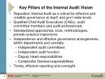 key pillars of the internal audit vision