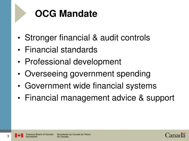 OCG Mandate