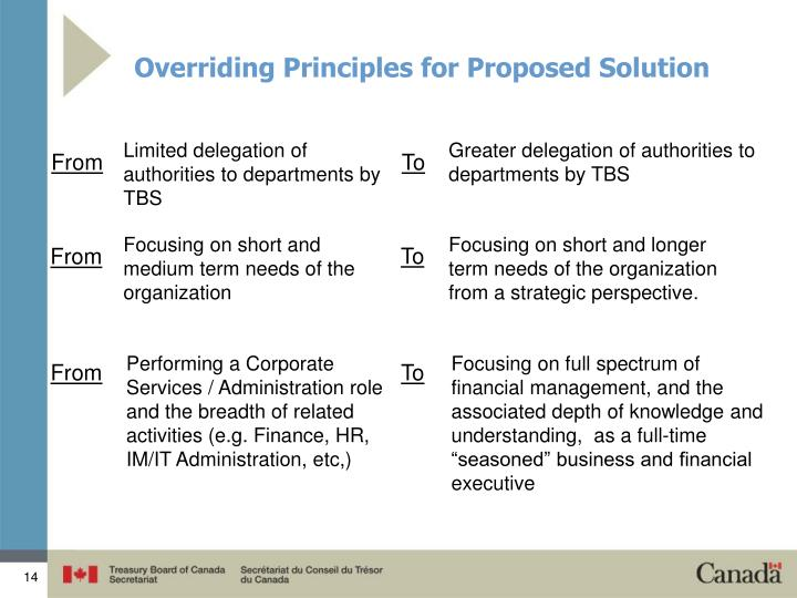 Overriding Principles for Proposed Solution