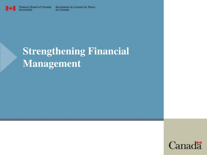 Strengthening Financial Management