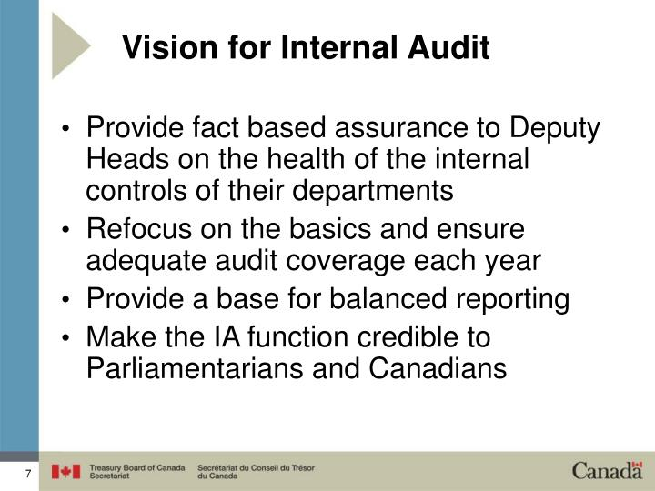 Vision for Internal Audit