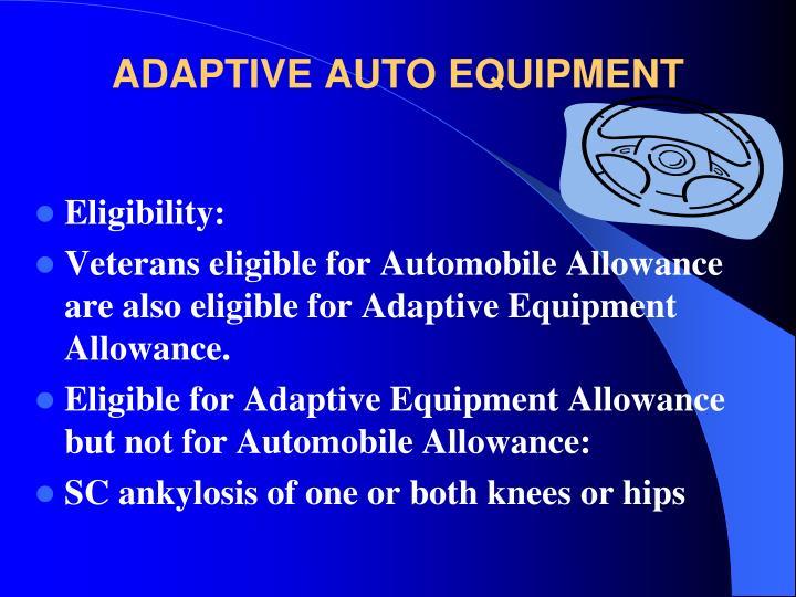 ADAPTIVE AUTO EQUIPMENT
