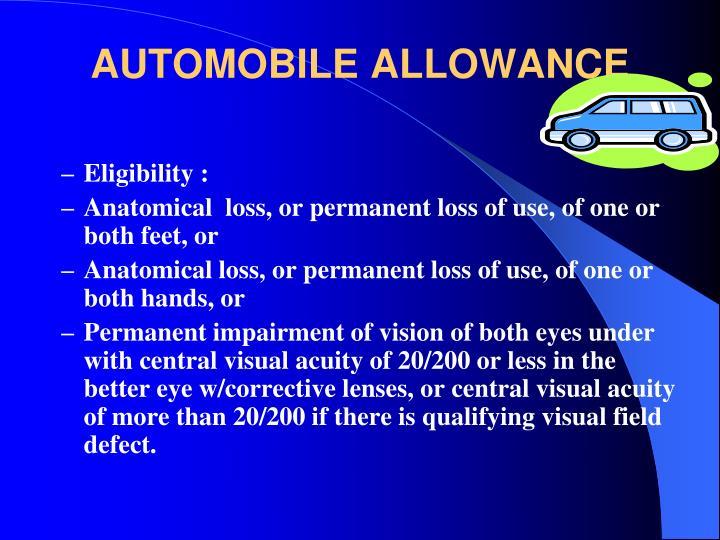 AUTOMOBILE ALLOWANCE
