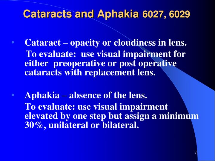 Cataracts and