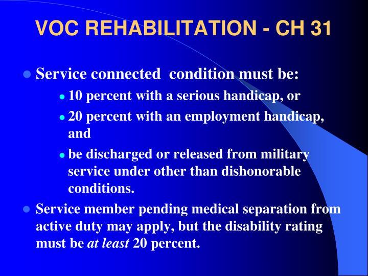VOC REHABILITATION - CH 31