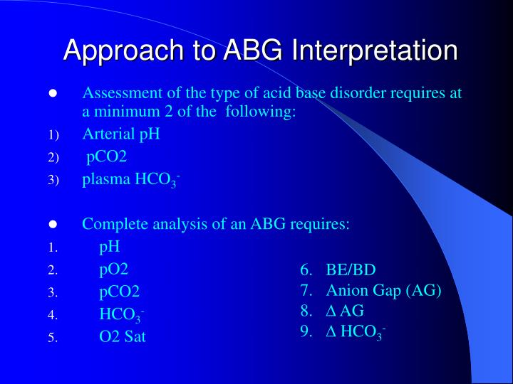Approach to ABG Interpretation