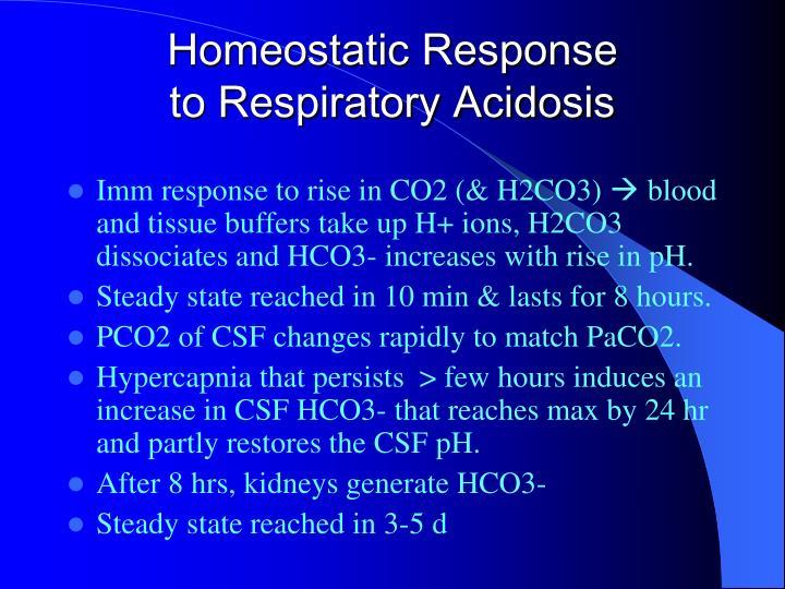 Homeostatic Response