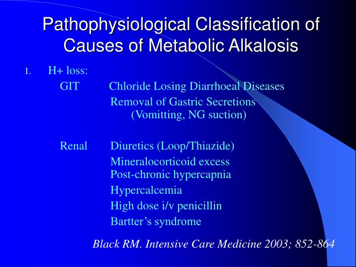 Pathophysiological Classification of Causes of Metabolic Alkalosis