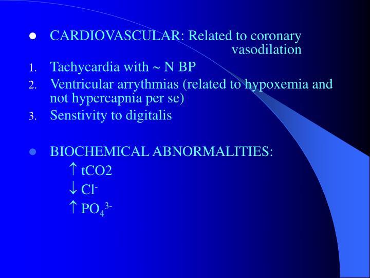 CARDIOVASCULAR: Related to coronary      vasodilation