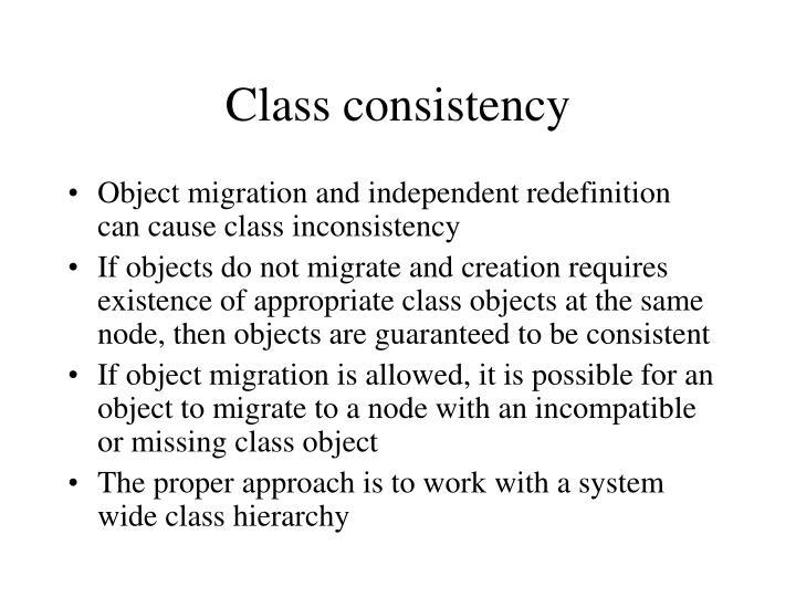 Class consistency