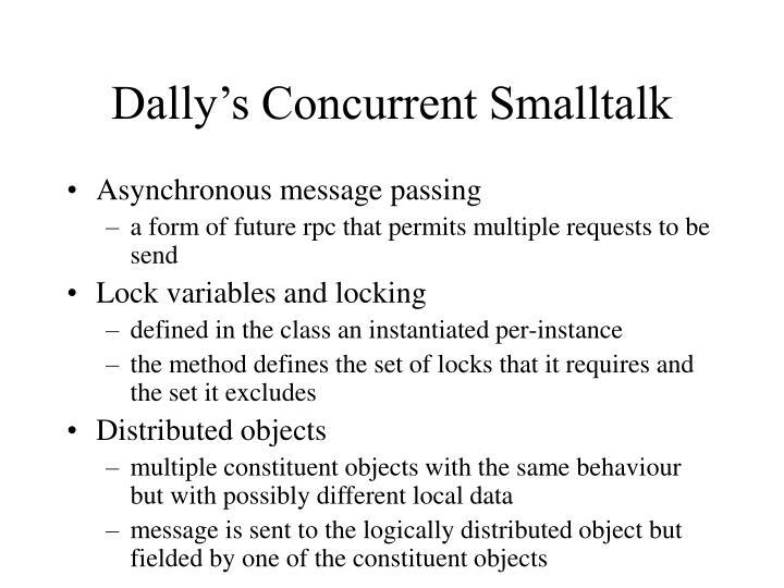Dally's Concurrent Smalltalk
