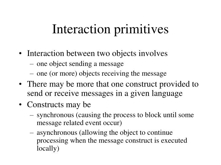 Interaction primitives