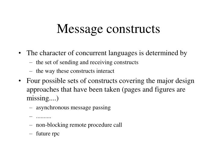 Message constructs