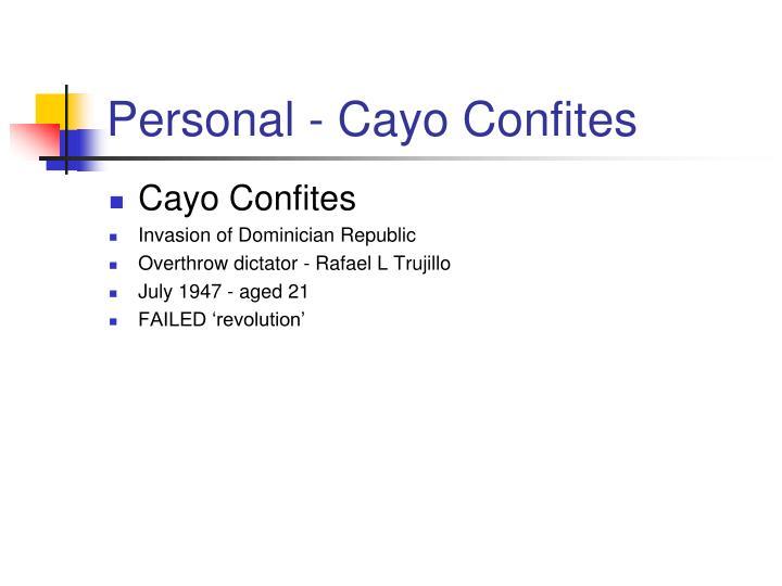 Personal - Cayo Confites