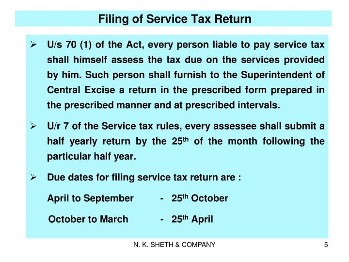 Filing of Service Tax Return