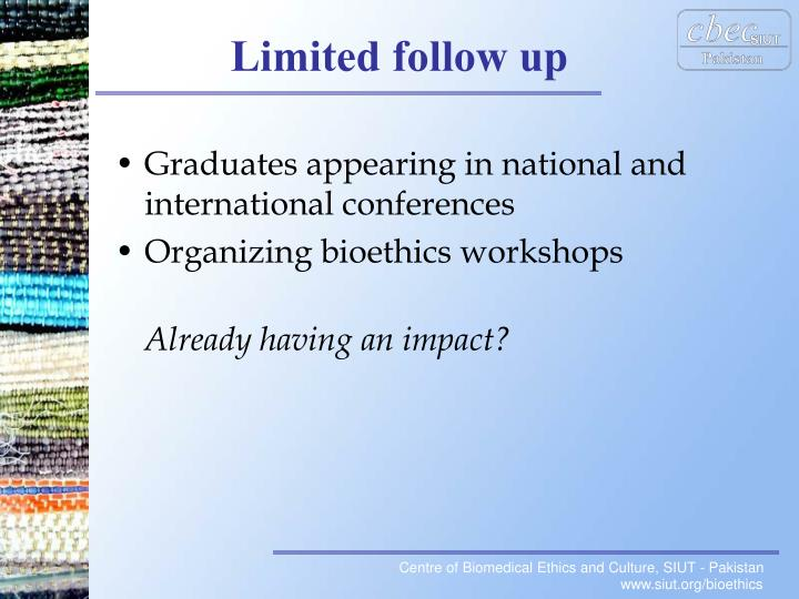 Graduates appearing in national and international conferences