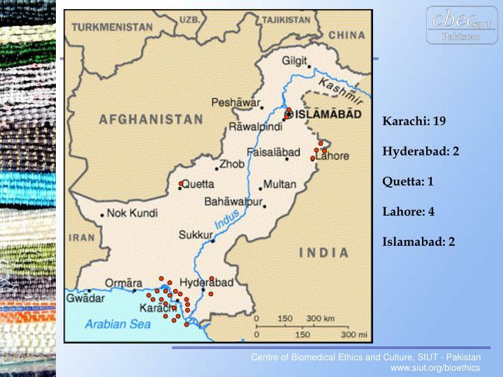 Karachi: 19