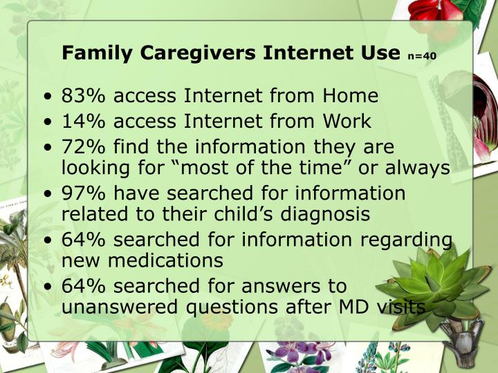 Family Caregivers Internet Use