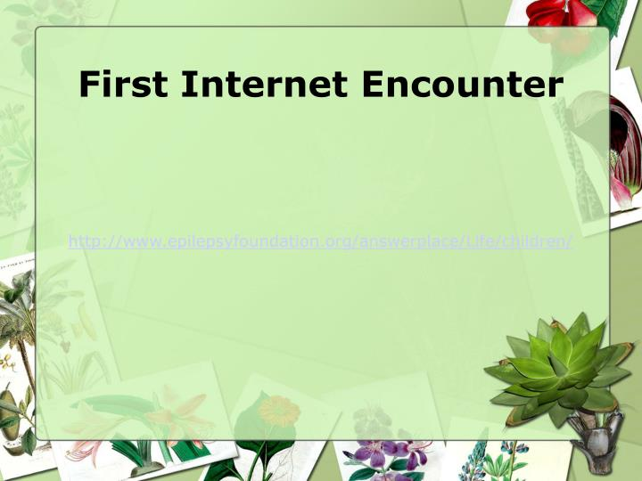 First Internet Encounter