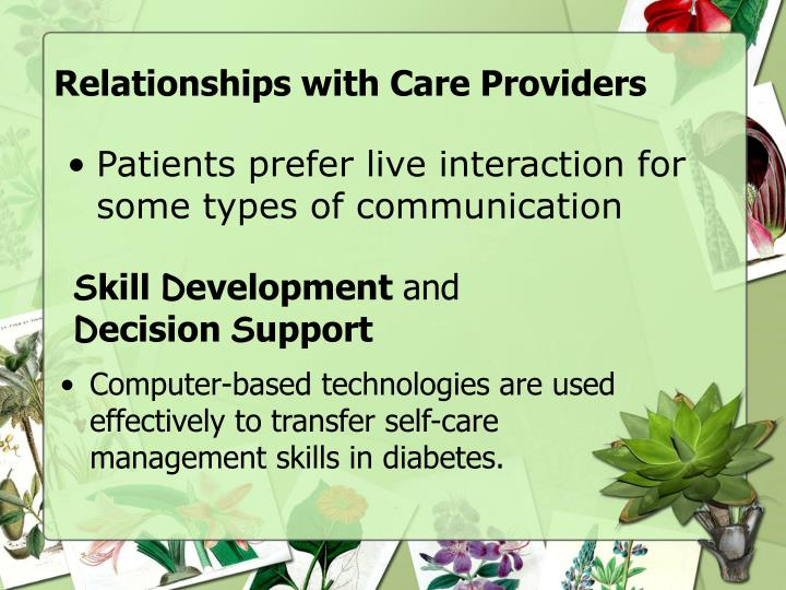 Relationships with Care Providers
