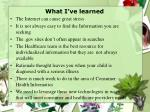 what i ve learned