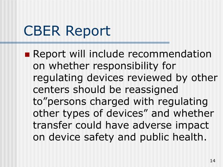 CBER Report